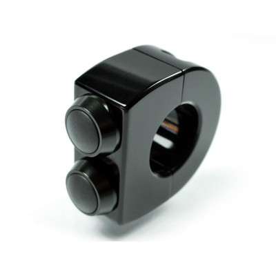 Pulsantiera Motogadget 1'' M-Switch 2 Push Button Total Black