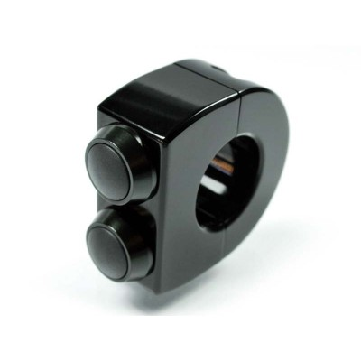 Pulsantiera Motogadget 22mm M-Switch 2 Push Button Total Black