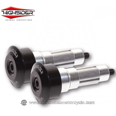 Highsider Bilancieri DOT 12/21 mm Black per Specchietti Bar End