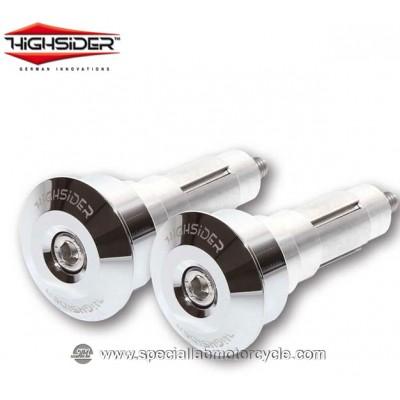 Highsider Bilancieri DOT 12/21 mm Chrome per Specchietti Bar End