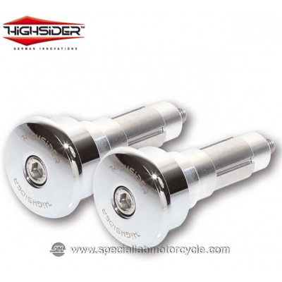 Highsider Bilancieri CURVE 12/21 mm Chrome per Specchietti Bar End