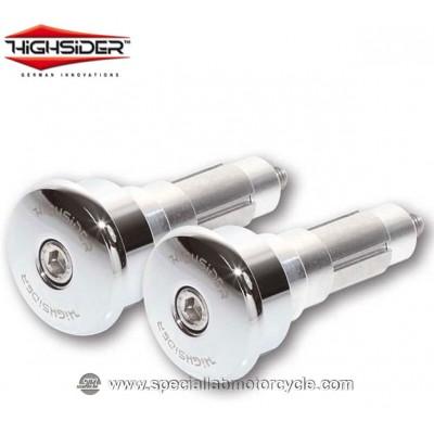 Highsider Bilancieri CURVE 12/21 mm Chrome per Specchietti Bar End