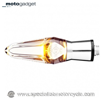 Freccia LED Motogadget M-Blaze Ice Chromed Clear Lens