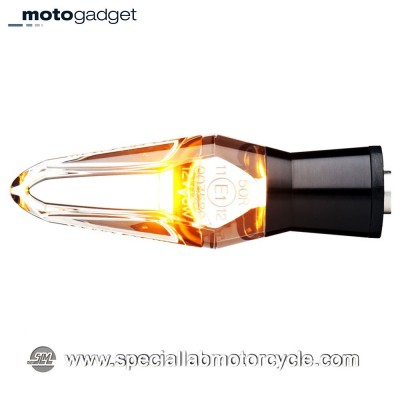 Freccia LED Motogadget M-Blaze Ice Black Clear Lens