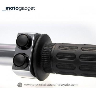 Motogadget M-Switch 2 Pulsanti Alluminio Lucidato con Tasto nero