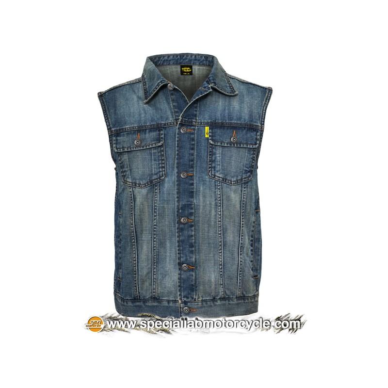 Gilet Jeans Stonewashed Blue