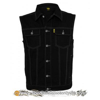 Gilet Jeans Stonewashed Black
