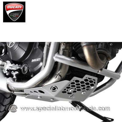 Piastra Paramotore Ibex per Ducati 800 Scrambler Silver