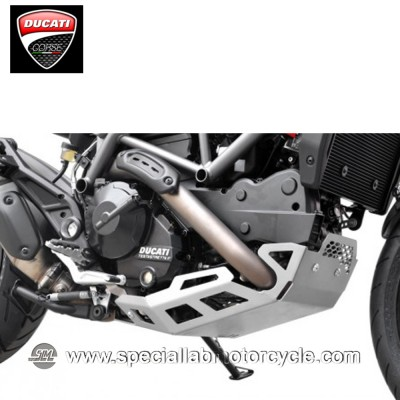 Piastra Paramotore Ibex per Ducati Hypermotard/Hyperstrada 821 Silver