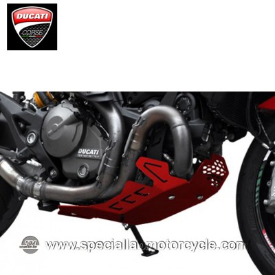 Piastra Paramotore Ibex per Ducati Monster 821 Red