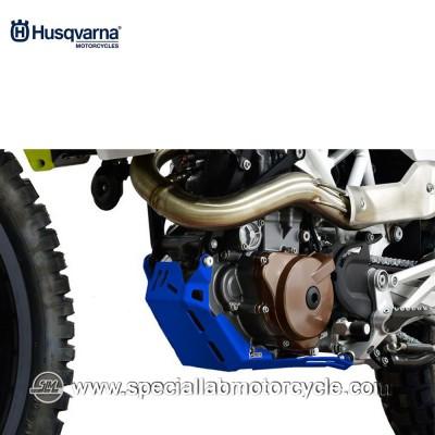 Piastra Paramotore Moto Ibex per Husqvarna Enduro 701 Blu