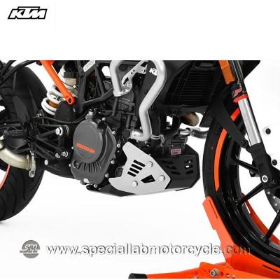 Piastra Paramotore Ibex per KTM Duke 125 Silver