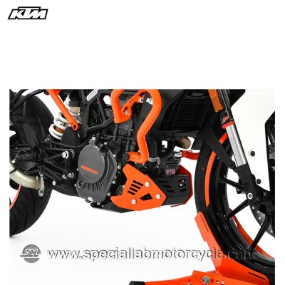 Piastra Paramotore Ibex per KTM Duke 125 Orange