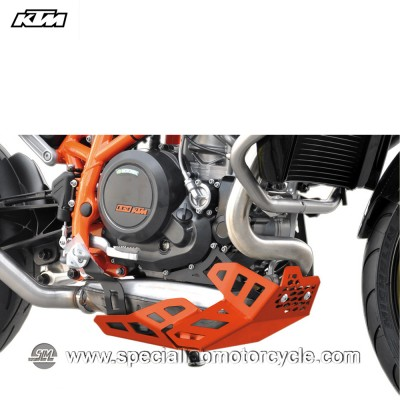 Piastra Paramotore Ibex per KTM Duke 690 Orange