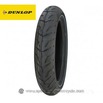 Pneumatico Dunlop Anteriore D408F fascia bianca con tratto HD-130/80B17 65H-SNW