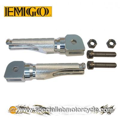 Coppia Pedaline Guidatore Emgo Slash-Cut Silver