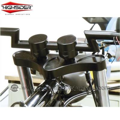 Highsider Coppia Riser Piston Diametro 25,4mm Rialzo 42mm Black